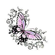 5 piezas de mariposa tatuaje temporal a prueba de agua (6cm * 6cm)