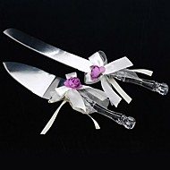 Stainless Steel Floral Theme Ribbon Crystal Gift Box