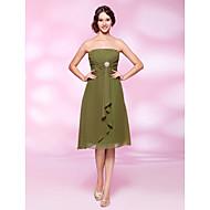 Cocktail Party Dress - Clover Plus Sizes A-line/Princess Strapless Knee-length Chiffon