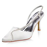 topp kvalitet sateng øvre høy hæl lukket-tær med rhinestone bryllup brude sko