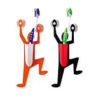 titular baño escalada hombre diseño de cepillo de dientes (color al azar)