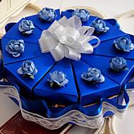 blaue Kuchen zugunsten Box mit Spitzen (10 Stück)