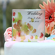 Cake Toppers Personalized Autumn Leaves Print  Cake Topper