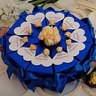königsblau mit Rosen Kuchen zugunsten Box (10 Stück)