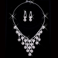 Jewelry Set Women's Anniversary / Wedding / Engagement / Birthday / Gift / Party / Daily Jewelry Sets Alloy RhinestoneNecklaces /