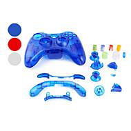 Case de Substituição para Comando Xbox 360 - Transparente (Várias Cores)