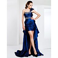 TS Couture® Cocktail Party / Formal Evening Dress - Royal Blue Plus Sizes / Petite Sheath/Column One ShoulderAsymmetrical / Sweep/Brush Train /