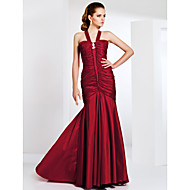 Formal Evening/Prom/Military Ball Dress - Burgundy Plus Sizes Trumpet/Mermaid Straps Sweep/Brush Train Taffeta
