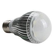 E26/E27 5 W 5 High Power LED 450 LM Natural White A Globe Bulbs AC 220-240 V