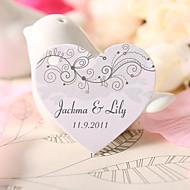 kişiselleştirilmiş kalp şeklinde lehine etiketi - sevinç (60 set)