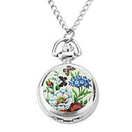 Women's Alloy Analog Quartz Butterfly and Flower Necklace Watches (Silver) Cool Watches Unique Watches Fashion Watch