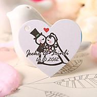 personalizado coração tag favor em forma - Bride & Groom (conjunto de 60)