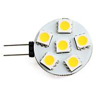 0.5W G4 LED Spotlight 6 SMD 5050 40 lm Warm White DC 12 V