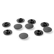 tapas de recambio palanca de mando para PSP 1000 (10-paquete de, negro)