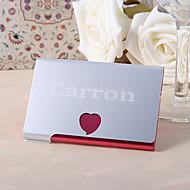 personalizada metal rojo Hert caso de la tarjeta de visita