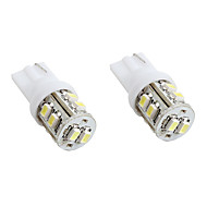 t10 10x1210 SMD LED blanche pour lampes de signalisation de voitures (2-pack, DC 12V)