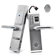 3-en-1 biométrico de huellas digitales y la cerradura de la puerta contraseña con cerrojo (diestro)