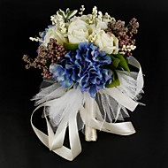 """פרחי חתונה עגול ורדים זרים חתונה סאטן כותנה צבעים מרובים 10.24""""(לערך.26ס""""מ)"""