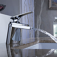 Sprinkle® by Lightinthebox - Contemporary Waterfall Bathroom Sink Faucet (Chrome Finish)
