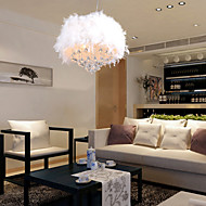 Max 60W Modern/Contemporary / Drum Crystal / Mini Style Electroplated Pendant Lights Living Room / Bedroom / Kids Room