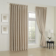 Twee panelen Window Behandeling Neoklassiek , Effen Woonkamer Rayon Materiaal Curtains Drapes Huisdecoratie For Venster