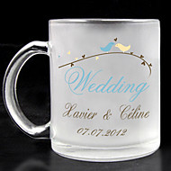 Personalized Frosted Glass - Wedding