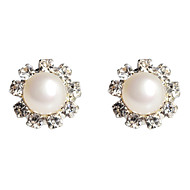 Stud Earrings Women's Alloy Earring Crystal/Pearl