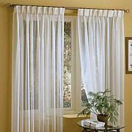 twopages® dva panely prádlo bílá pevná látka naprostý záclony závěsy