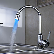 Sprinkle® Kitchen Faucets LED / Centerset with Chrome Single Handle One Hole