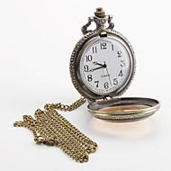 Men's Alloy Analog Quartz Pocket Watch (Bronze) Cool Watch Unique Watch Fashion Watch