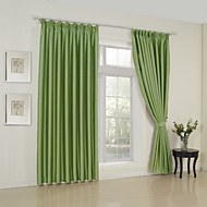 TWOPAGES® Two Panels  Classic Solid Green Room Darkening Curtains Drapes