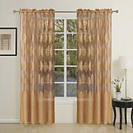 1つのパネルの国がジャガード薄手のカーテンのカーテンを残します