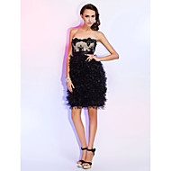 Cocktail Party/Wedding Party/Holiday Dress - Black Plus Sizes Sheath/Column Strapless/Sweetheart Short/Mini Tulle/Lace