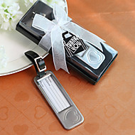 pen sink legering sølvhjerte utforming bagasjen tag