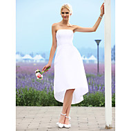 A-line/Princess Wedding Dress - Ivory Asymmetrical Strapless Taffeta