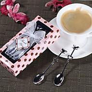 cuchara de plata, tazas de té conjunto favor de la boda
