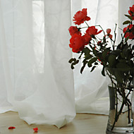 Two Panels Curtain Modern , Solid Dining Room Material Sheer Curtains Shades Home Decoration For Window