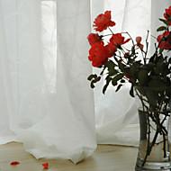 Two Panels Okno Leczenie Współczesne , Stały Jadalnia Materiał Sheer Zasłony Rolety Dekoracja domowa For Okno