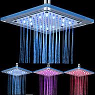 8-inch 12-led Vierkante Acryl Plafond douche kop (verschillende kleuren)
