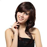 Capless Medium Brown Wavy Synthetic Wigs