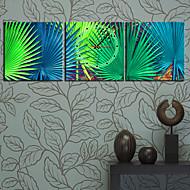 Modern Scenic Wall Clock in Canvas 3pcs K0044