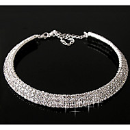 Women's Layered Diamond Necklace(Outer Diameter:11cm)