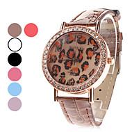 Women's Leopard Print Dial PU Band Quartz Analog Wrist Watch (Assorted Colors) Cool Watches Unique Watches