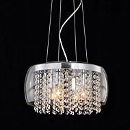 Max 60W Modern/Contemporary / Drum Crystal / Mini Style Painting Pendant Lights Living Room / Dining Room / Hallway