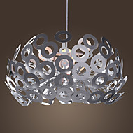 Modern Pendant Light in Circle Featured Lampshade