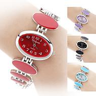 아가씨들 패션 시계 팔찌 시계 석영 밴드 우아한 블랙 화이트 레드 핑크 퍼플