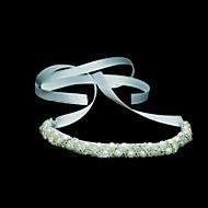 satijn/Imitatie Parel Vrouwen Helm Bruiloft/Speciale gelegenheden Hoofdbanden Bruiloft/Speciale gelegenheden