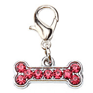 Dog tags Rhinestone Decorated Dog Bone Style Collar Charm for Dogs Cats