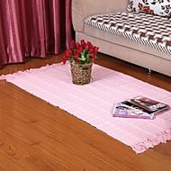 Elaine 100% pamut szőnyeg mintás kockás (80 * 150cm, rózsaszín)