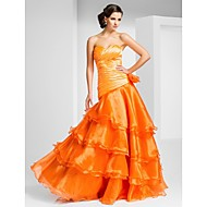 Prom / Formal Evening Dress - Plus Size / Petite A-line / Princess Strapless / Sweetheart Floor-length Organza